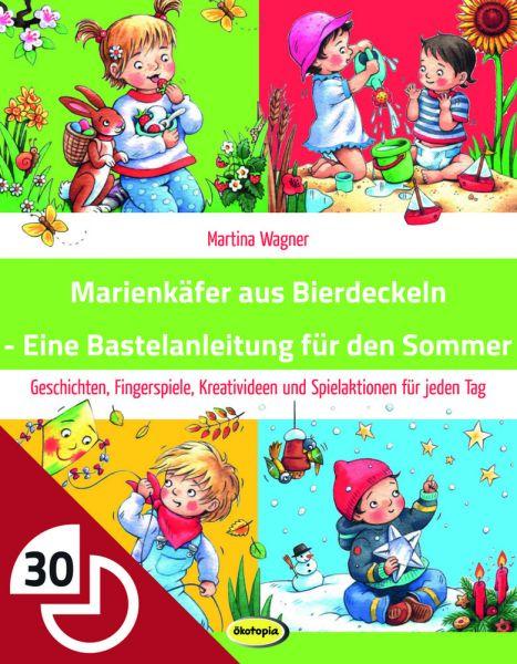 Marienkäfer aus Bierdeckeln - Eine Bastelanleitung für den Sommer