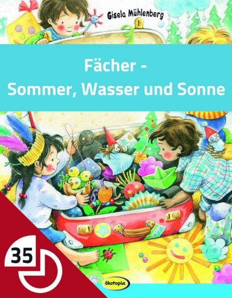 Fächer - Sommer, Wasser und Sonne