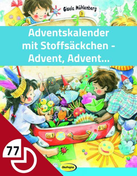 Adventskalender mit Stoffsäckchen - Basteln für den Advent